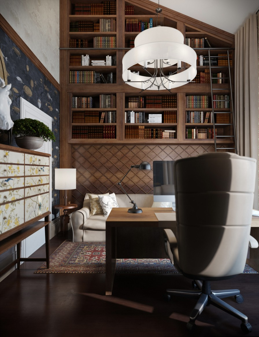 Contemporary Home Library Design: Elegant Modern Library