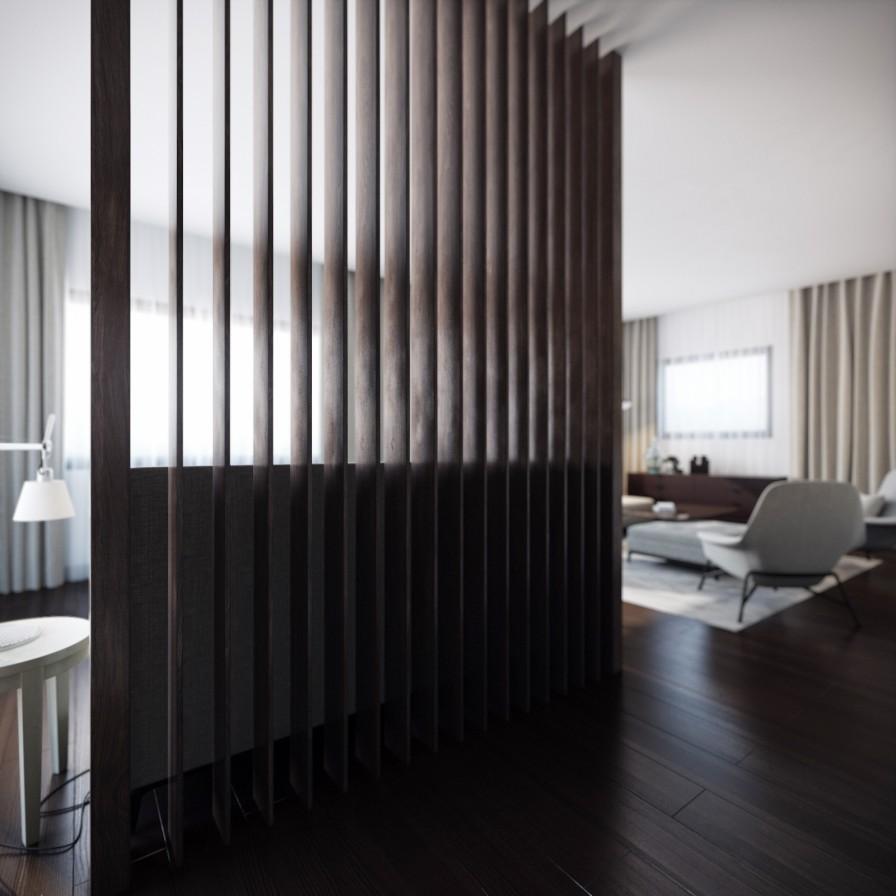 Luxury Homes Interior Decoration Living Room Designs Ideas: Wood Slat Room Divider
