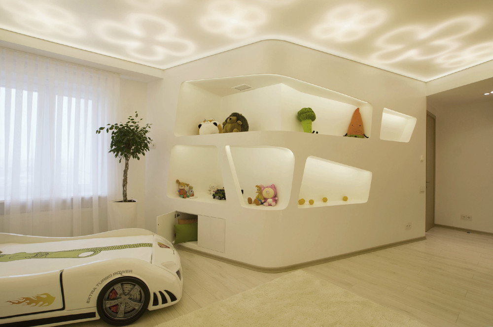 Children S And Kids Room Ideas Designs Inspiration: Futuristic Penthouse With Twin Toilets