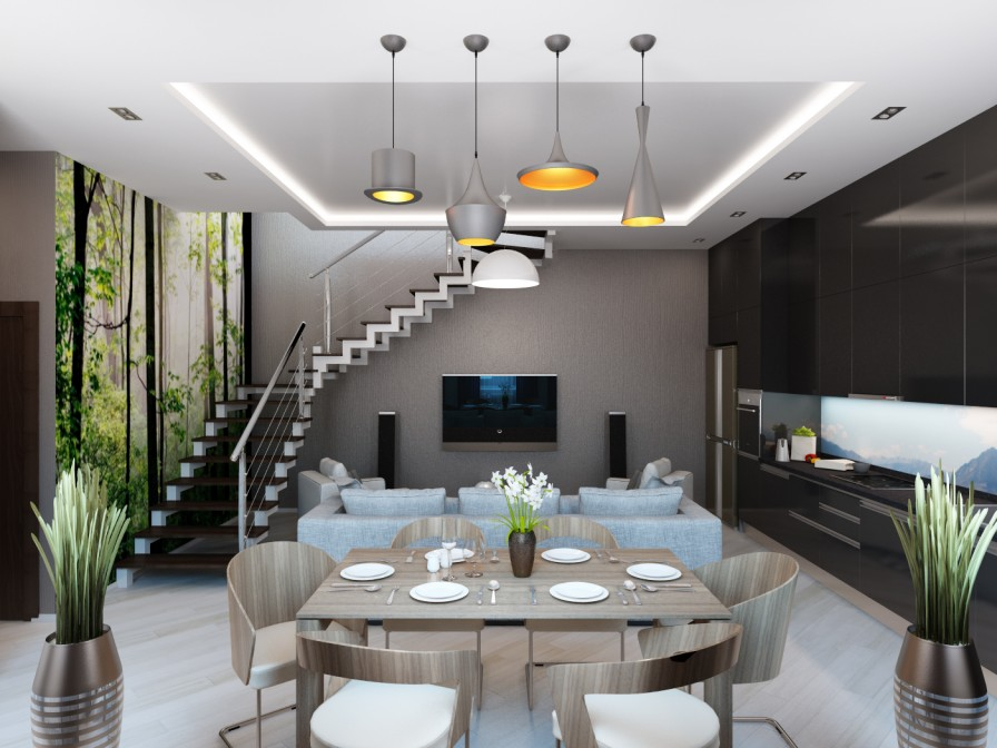 Modern Living And Dining Room Design Thecreativescientist Com