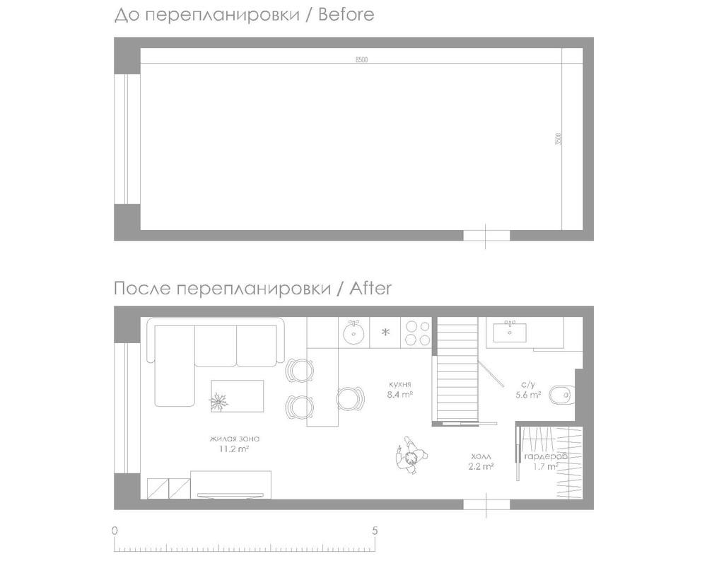 small 29 square meter 312 sq ft apartment design. Black Bedroom Furniture Sets. Home Design Ideas