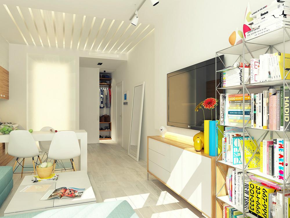 Small 29 square meter 312 sq ft apartment design