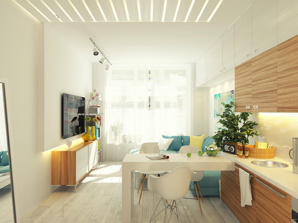 Small Kitchen Diner Lounge Interior Design Ideas