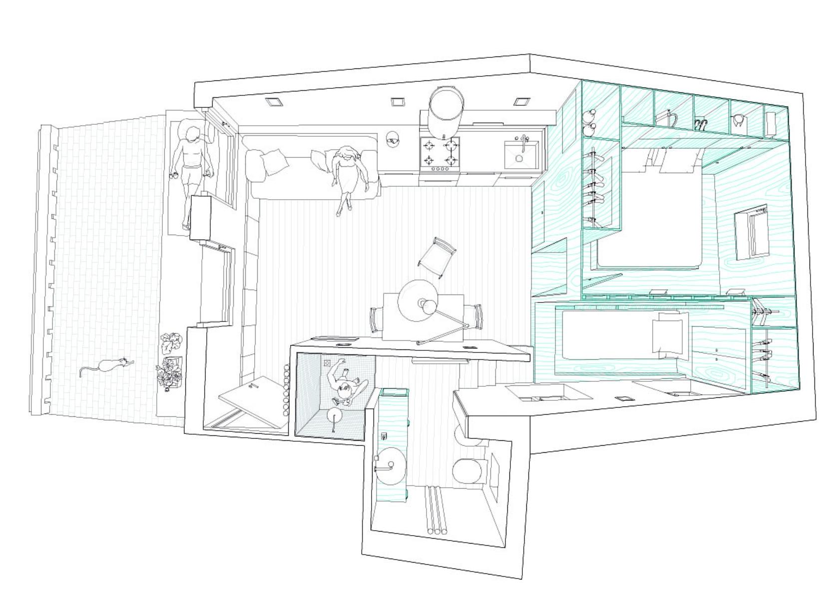 Small apartment plan interior design ideas