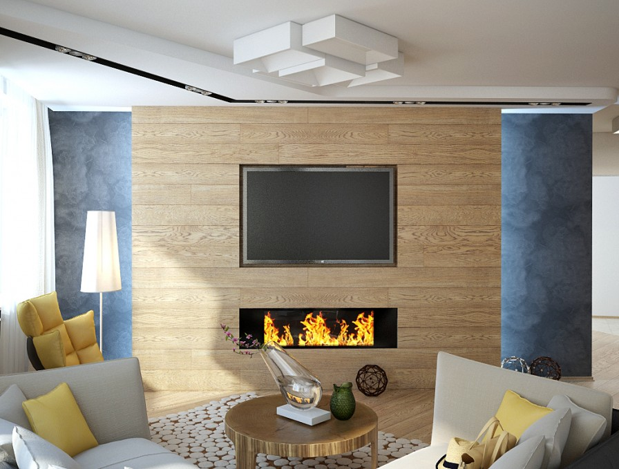 Flat Screen Tv Interior Design Ideas & Flat Screen Fireplace Designs | Shapeyourminds.com