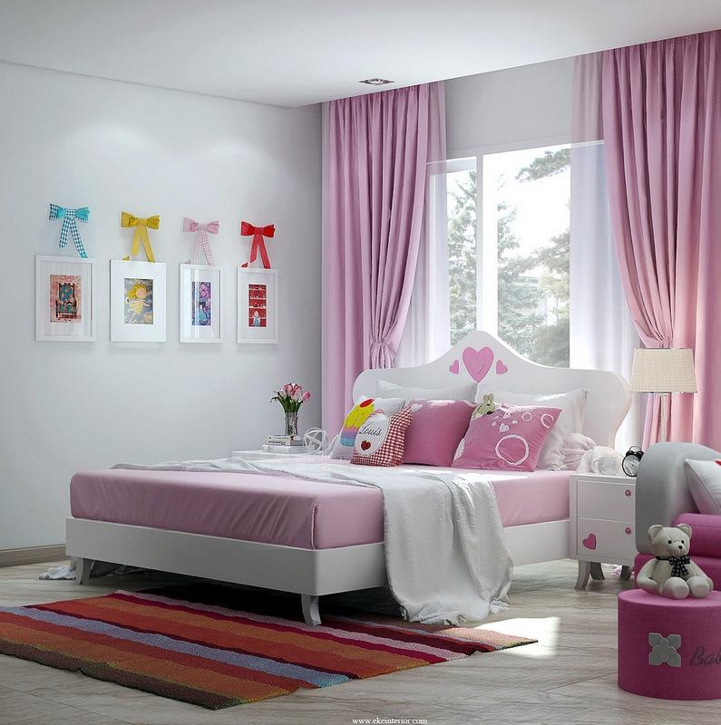 Girls Pink Bedroominterior Design Ideas