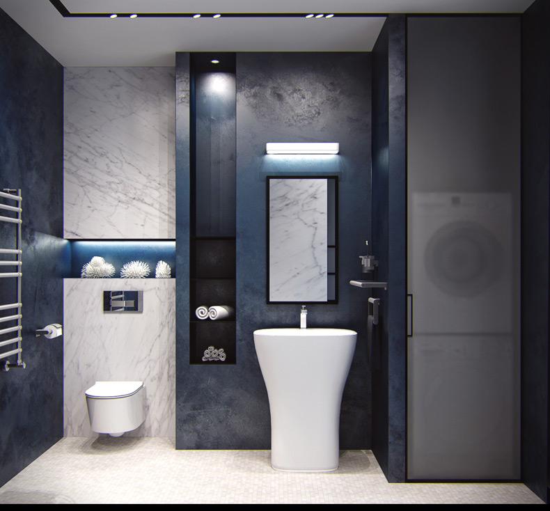 Contemporary Bathroom Utilty Interior Design Ideas