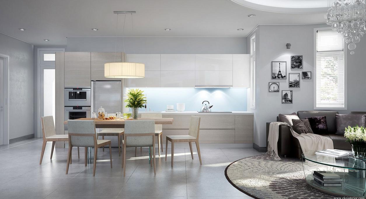 Modern Open Kitchen. Modern Living oom nd Kitchen Design Of ... - ^