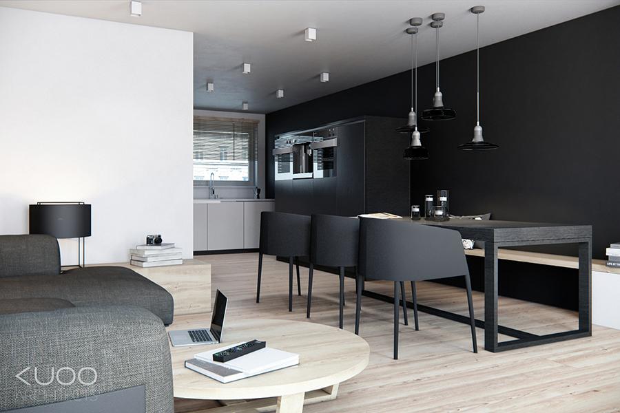 Black Kitchen Dinerinterior Design Ideas