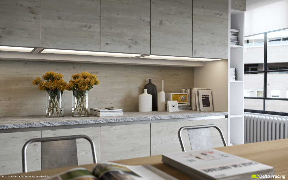 Kitchen counter top lighting kitchen layouts and lovely lighting