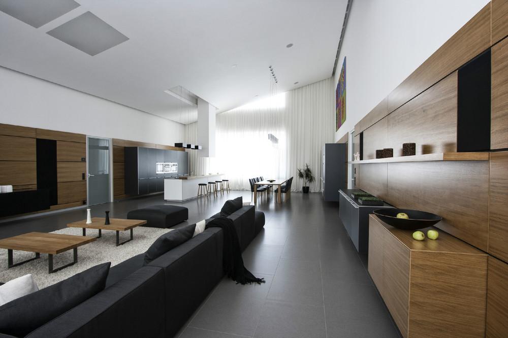 Walnut Wood Paneling Interior Design Ideas