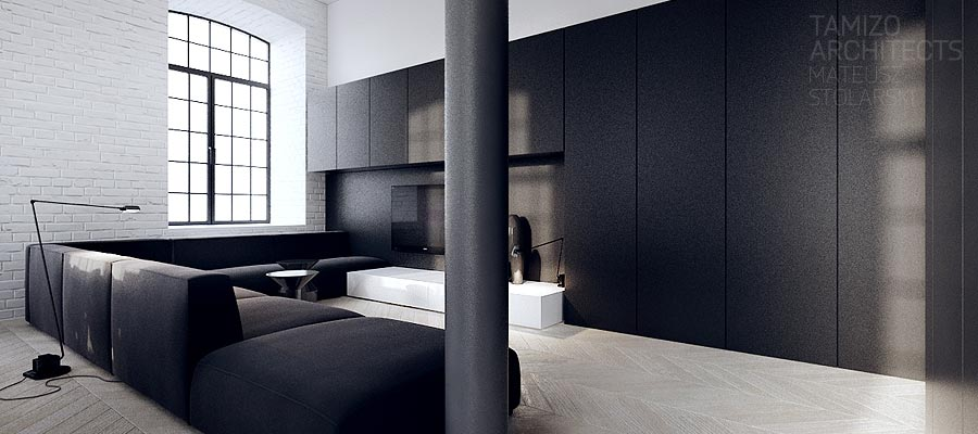 interior design in black - photo #14