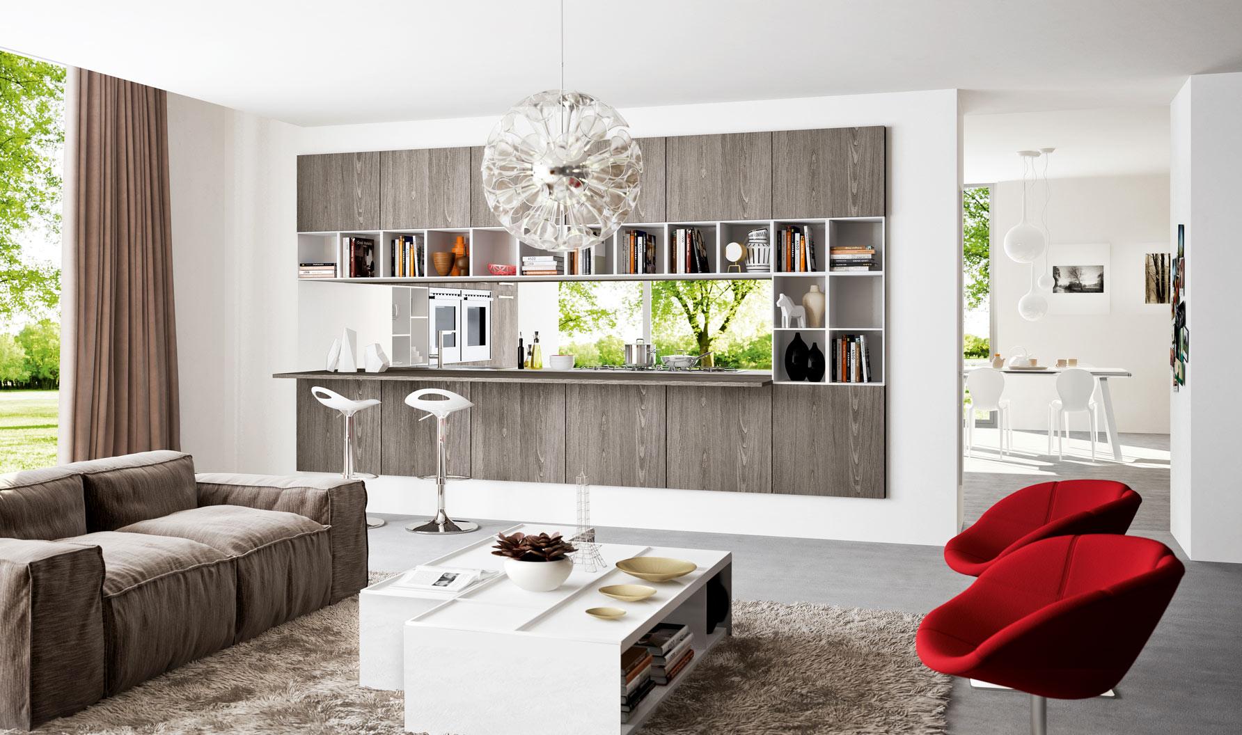Kitchen designs that pop - Kitchen and living room divider ...