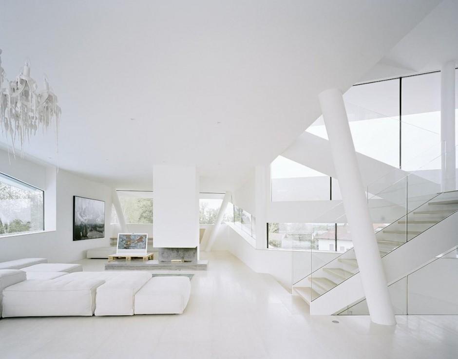 White living room interior design ideas for Arredamento casa bianco