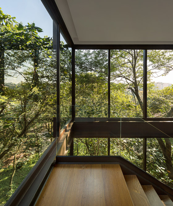 Black window frames sunny open plan limantos residence