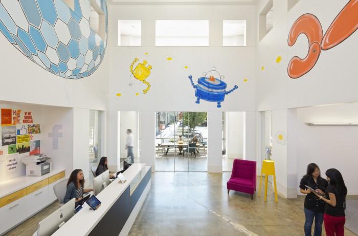 Facebook Reception Interior Design Ideas