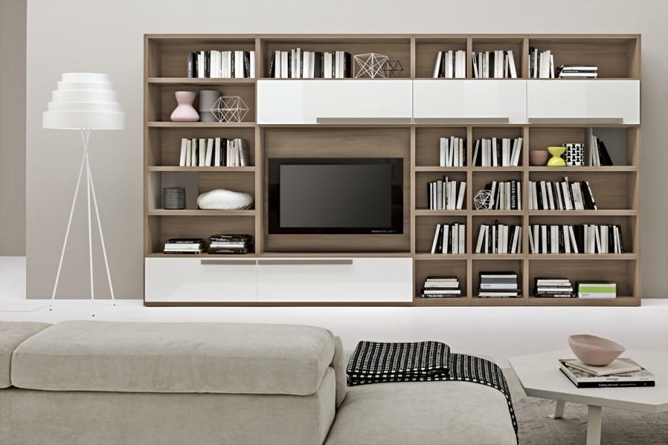 living room bookshelves 46 interior design ideas. Black Bedroom Furniture Sets. Home Design Ideas