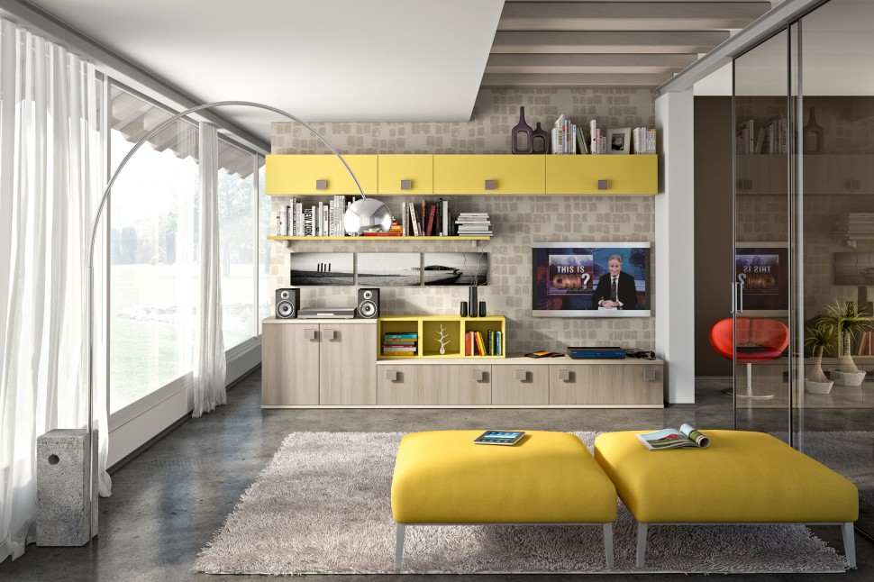 . Modern Living Room Wall Units With Storage Inspiration