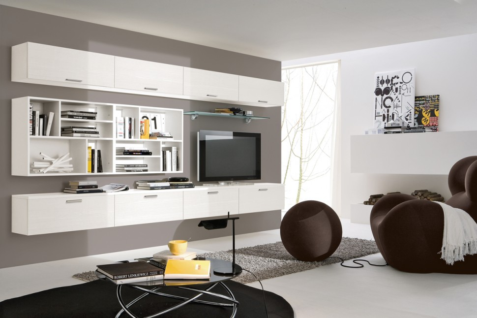 Modern Living Room Wall Units With Storage Inspiration on Wall Units For Living Room Contemporary id=91700