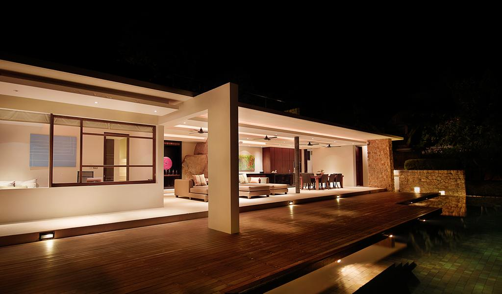 Crisp asian villa design