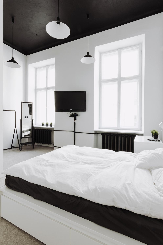 black bedroom ceilinginterior design ideas