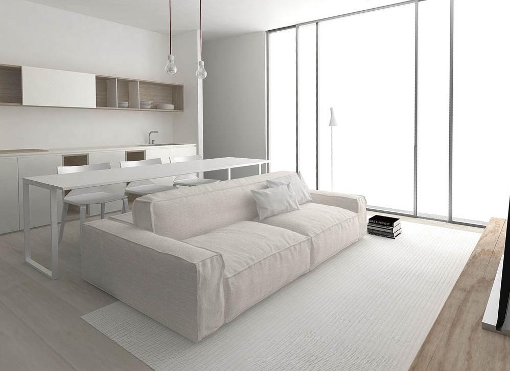 Compact Kitchen Diner Lounge Interior Design Ideas