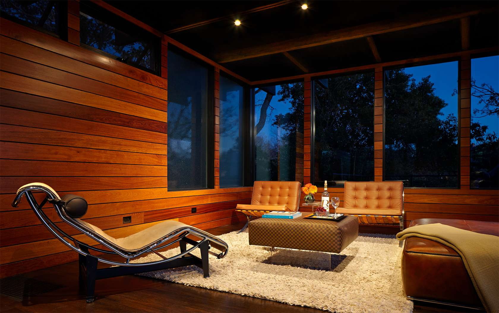 Orange Barcelona Chairs Interior Design Ideas