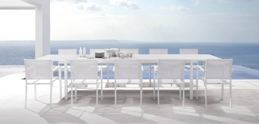 White Outdoor Dining Table Interior Design Ideas