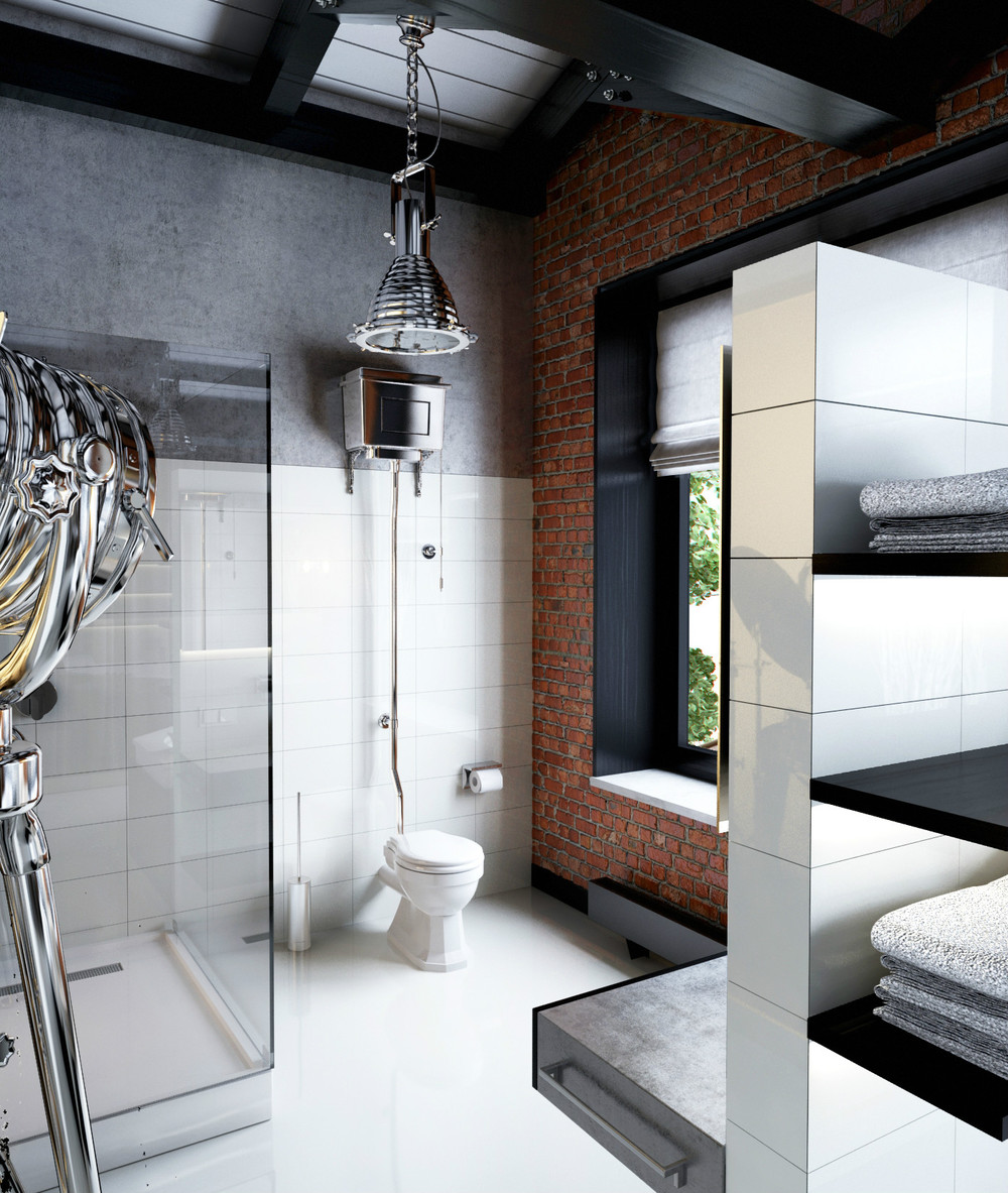 Masculine Master Baths: Interior Design Ideas