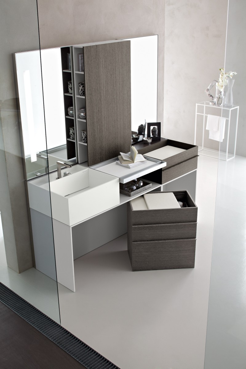 Bathroom Vanity With Solid Surface Top