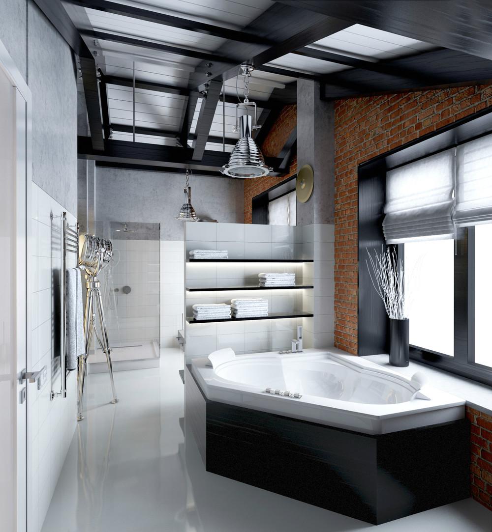 Masculine bathroom decor | Interior Design Ideas.