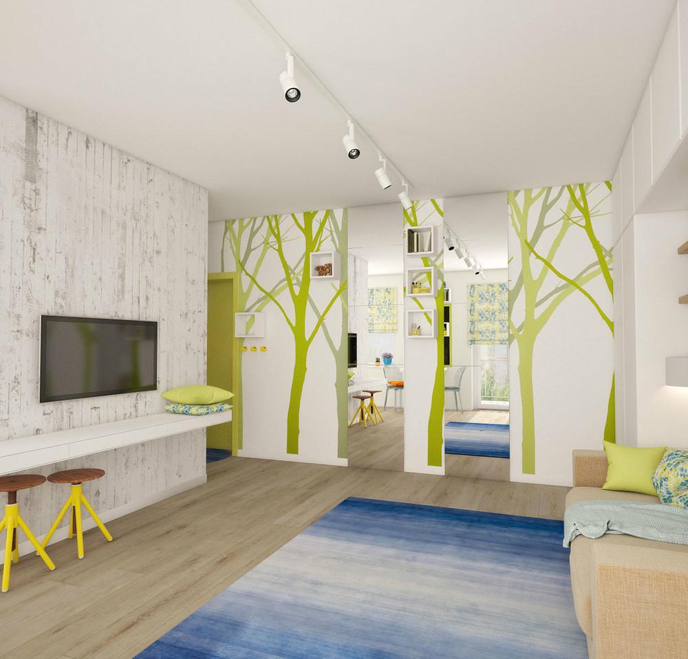 Tree Wallpaper Interior Design Ideas