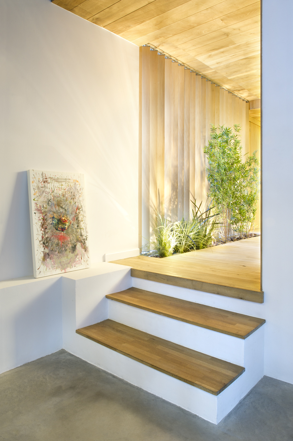 Steps To Draw A Person: Industrial Home With Interior Planting And Transparent Walls