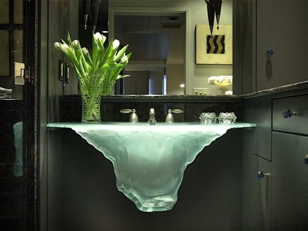 unique bathroom sinks come in new shapes like this waterfall
