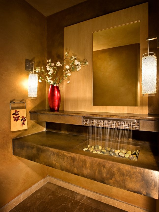 30 extraordinary sinks that you will not find in an - Powder room sink ideas ...