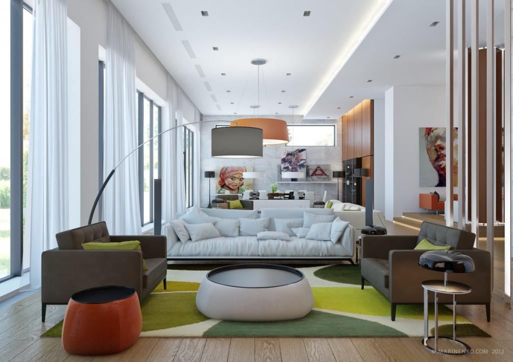 terrific tropical living room | 20 Terrific Living Rooms