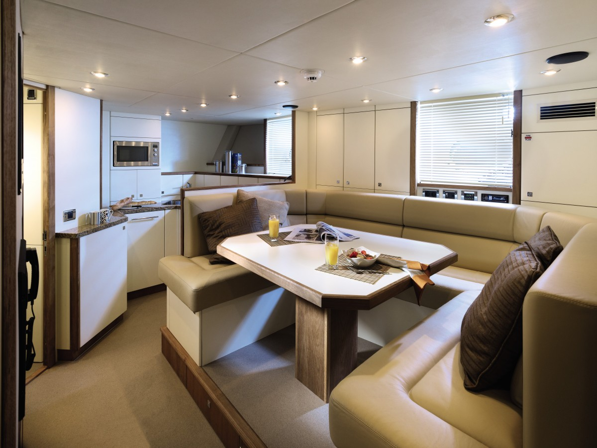 Beautiful Banquette Luxury Yacht Interior Design
