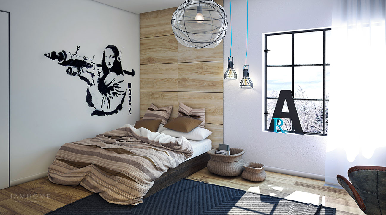 industrial bedroom lighting beautifully modern youthful home for a small family 11890