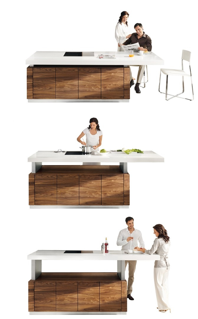 Height Adjustable Kitchen Countertop Interior Design Ideas
