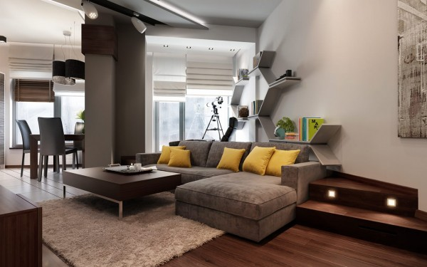 Three apartments with extra special lighting schemes - Modern small apartment design ...