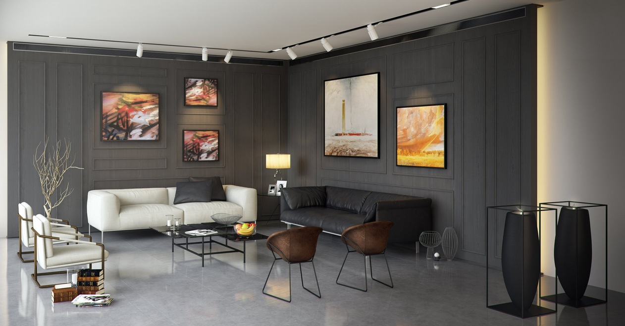 Living Room Wall Paneling Interior