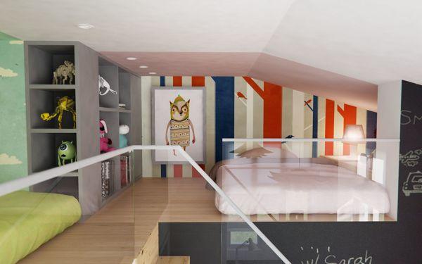 Mezzanine Bedroom Low Ceiling