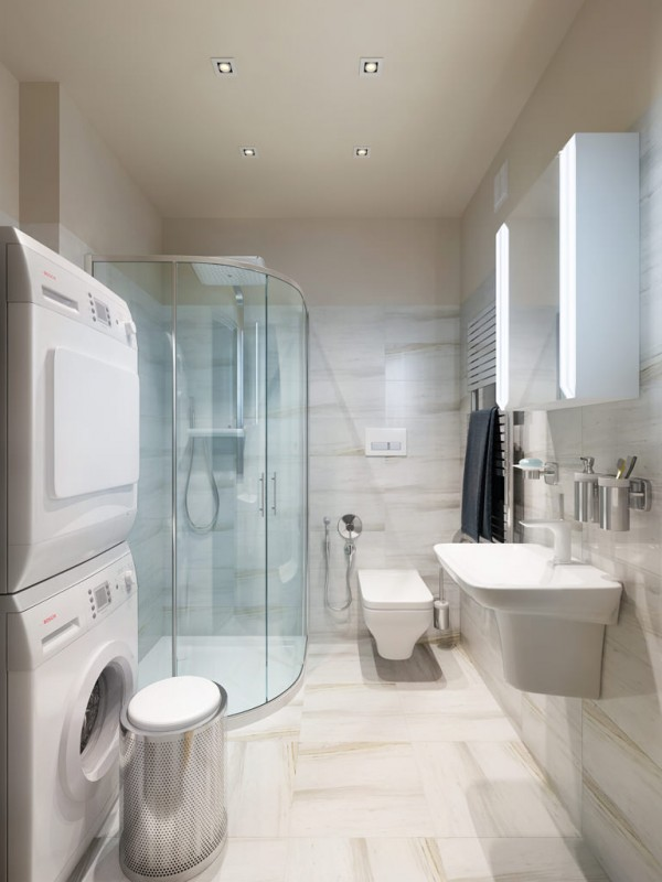 10x10 Bathroom: Three Apartments With Extra Special Lighting Schemes