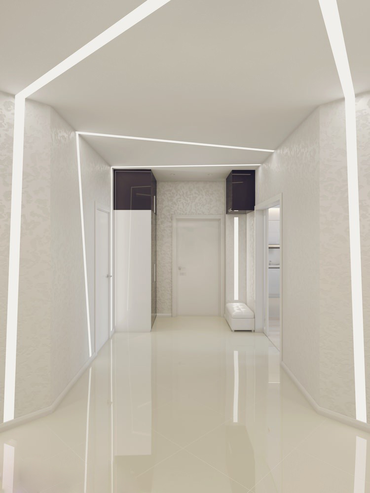 White hallway | Interior Design Ideas.