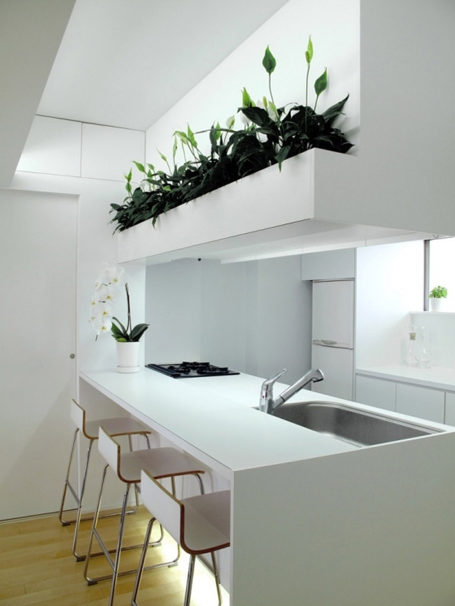 Zen Style Kitchen Breakfast Bar Interior Design Ideas