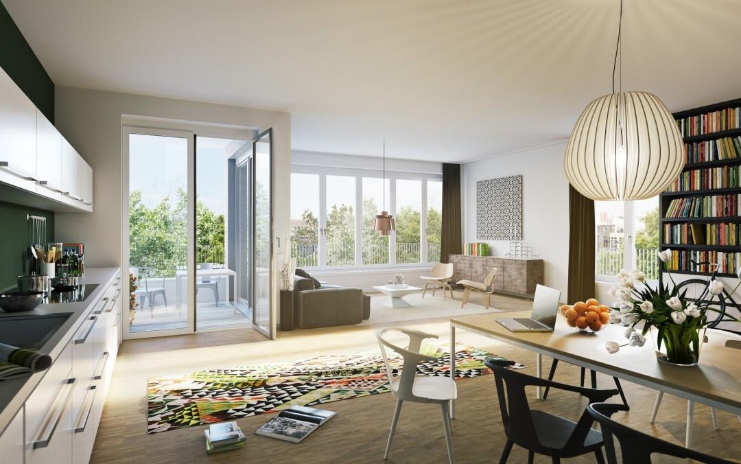 terrific living room colors | Open plan kitchen lounge | Interior Design Ideas.
