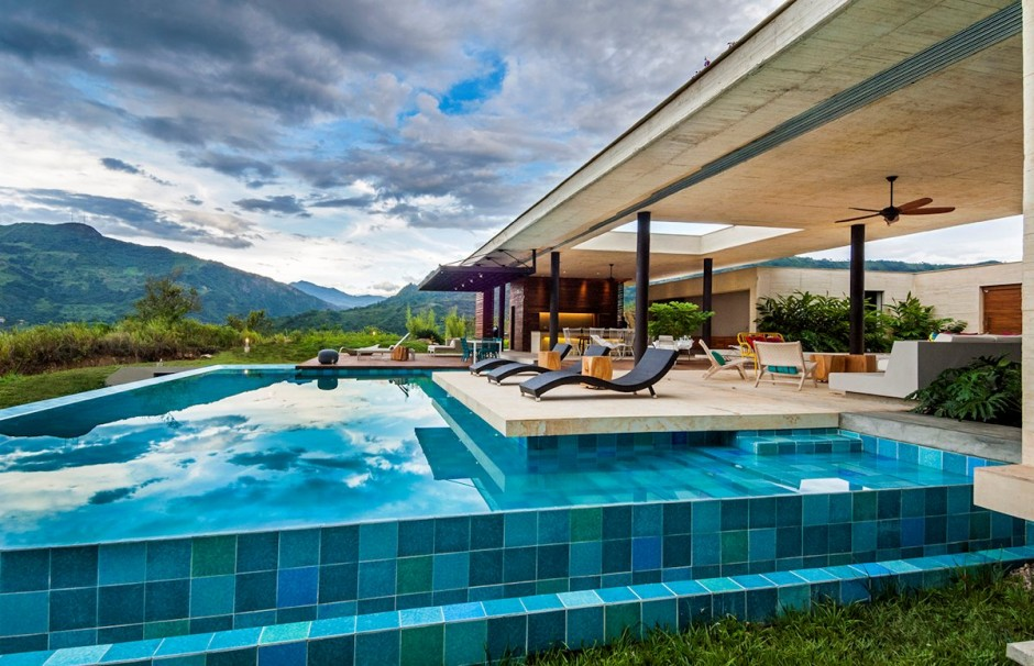 Swimming Pool Gl Tile Design | Modern Swimming Pool Tiles New House Designs