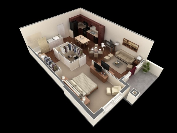 1 bedroom apartment designs | nrtradiant