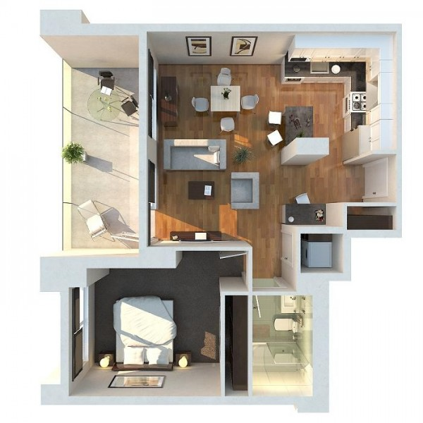 One 1 Bedroom House Floor Plans Interior And Lay Out Design