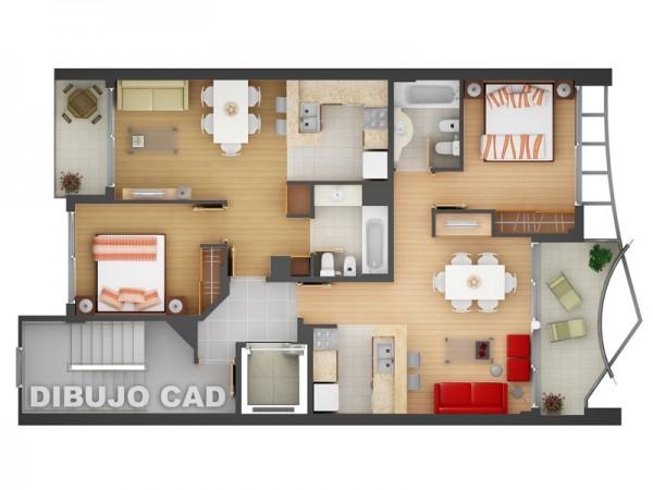 . Designeer paul  2 Bedroom Apartment House Plans